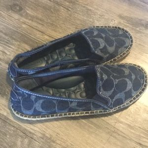 COACH DENIUM HEMP FLAT LOAFERS